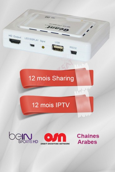 Récepteur Geant CX-1200HD + 12 mois IPTV (Bein sports et Nilesat)