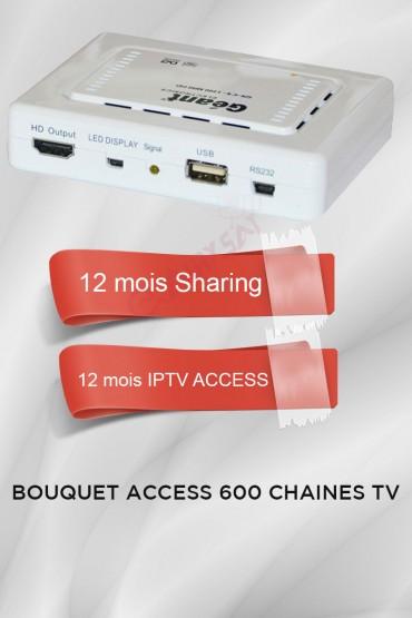 Récepteur Geant CX-1200HD + 12 mois IPTV Access 600 chaines TV tunisie