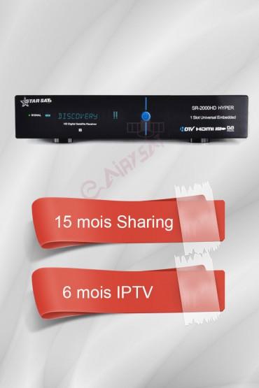 Récepteur Starsat 2000HD Hyper + 15 mois G-Share tunisie