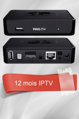 MAG 254 + 12 Mois IPTV Officiel