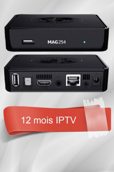 MAG 254 + 12 Mois IPTV Officiel tunisie
