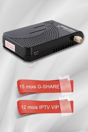 Récepteur Starsat 2020HD SUPER + 15 mois G-share + 12 mois IPTV 3400 chaines (VIP) tunisie