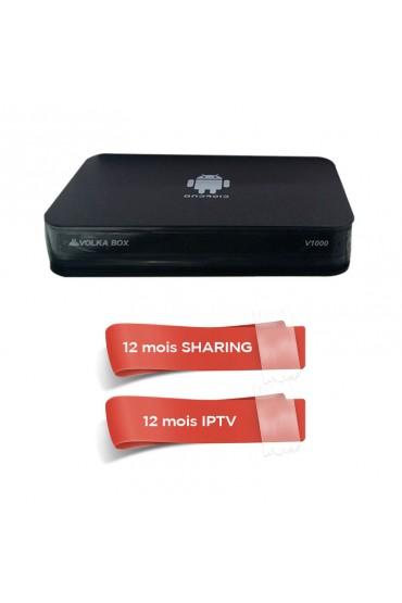 Récepteur Android VOLKA BOX + 12 mois IPTV Officiel + 12 mois SHARING tunisie