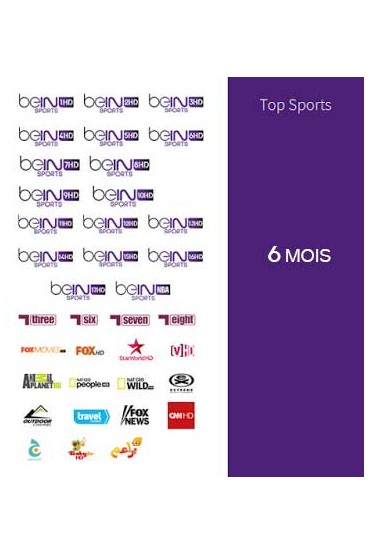 Abonnement Bein Sports 6 mois TOP SPORTS tunisie
