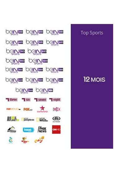 Abonnement Bein Sports 12 mois TOP SPORTS tunisie
