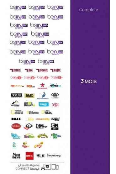 Abonnement Bein Sports 3 mois COMPLETE tunisie
