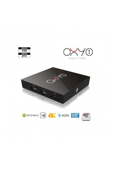 Box Android Oxy One 4K + 12 mois IPTV AIRYSAT 2000CH tunisie