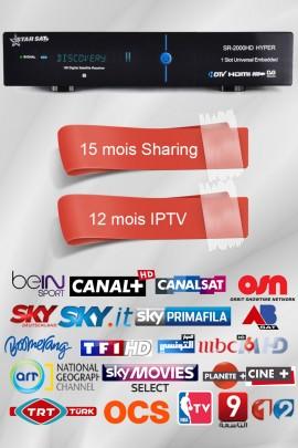Récepteur Starsat 2000HD Hyper + 15 mois GSHARE + 12 mois IPTV AIRYSAT