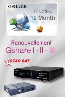 Abonnement GSHARE / STARSHARE 12 mois