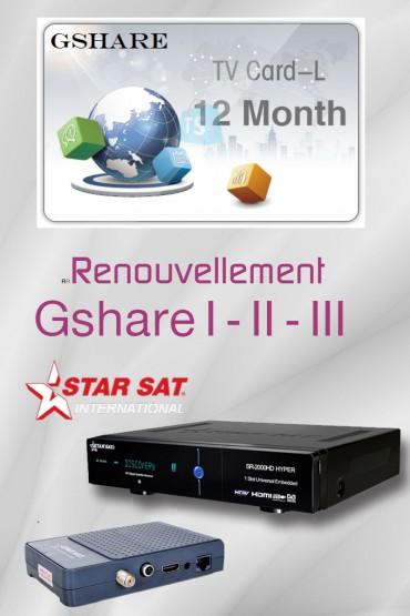Abonnement GSHARE / STARSHARE 12 mois tunisie